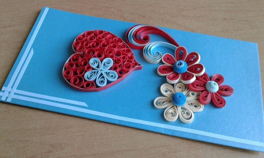 Mariage - Quill card Love card Quilled card I love you gifts Greeting card Heart card Birthday card Quilled flowers Quilling patterns