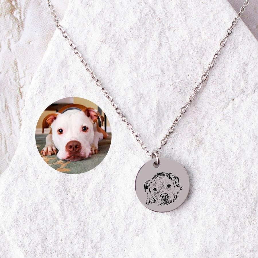 Свадьба - 15mm Customized Dog Portrait from Photo Personalize Dog Portrait Necklace Pet Memorial Jewelry Gift Dog Custom Gift  Dog Necklace for Her