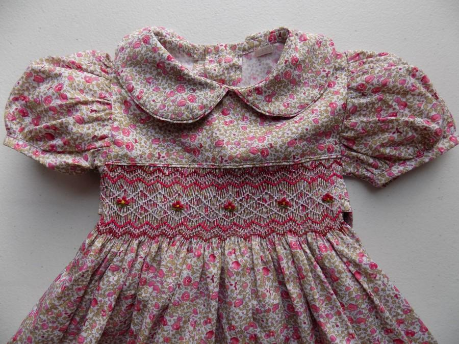 Wedding - smocked dresses baby girl3-6-9 months outfit smocked dress for baby girl