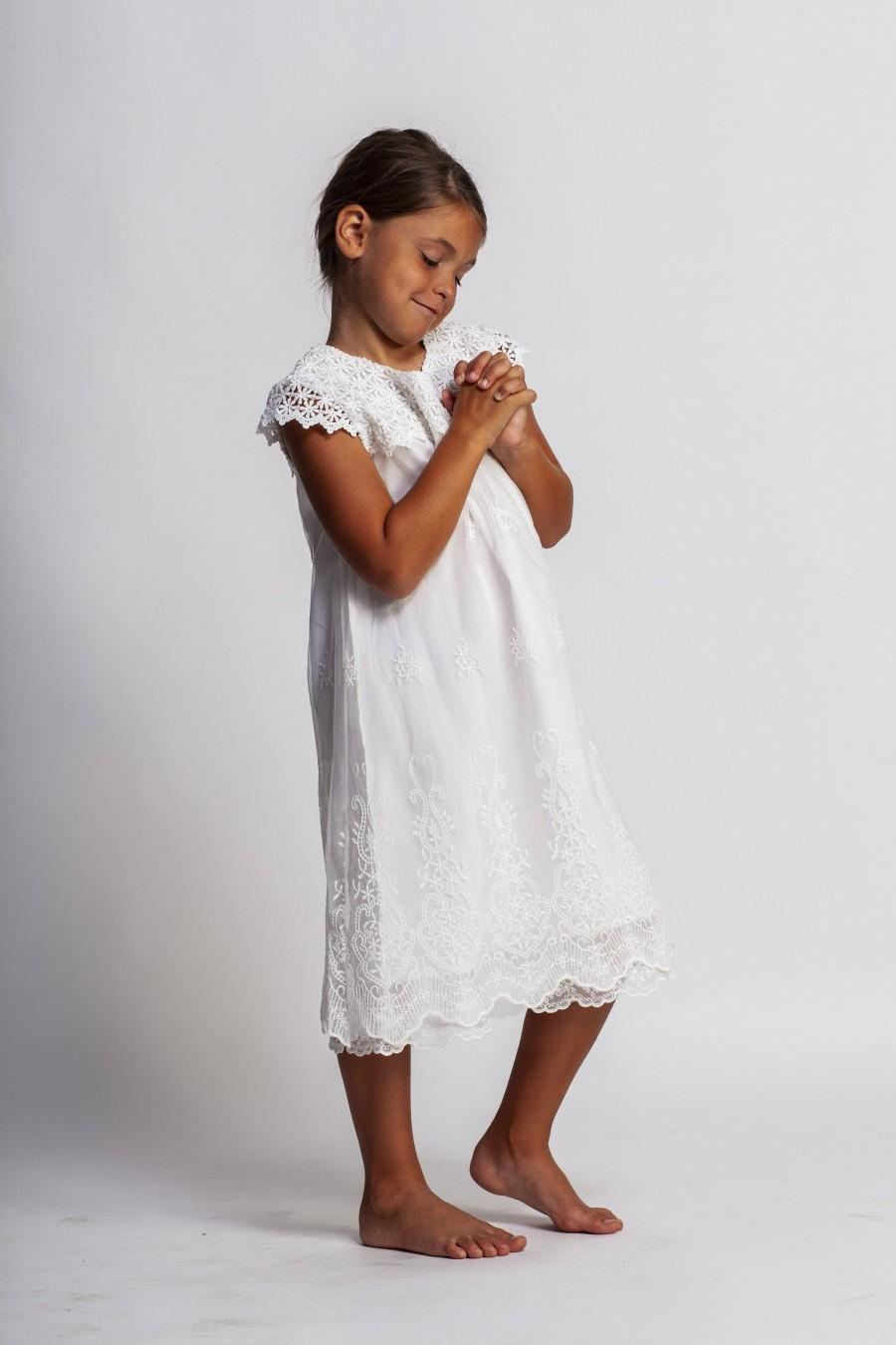 زفاف - girls baptism gown,blessing ceremony dress,white girls dress,flower girl dress,first communion dress,girls lace dress,toddler dress,vintage