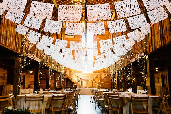 Свадьба - Mexican Wedding Papel Picado Custom Made Garland Lengths To Fit Your Venue Perfectly