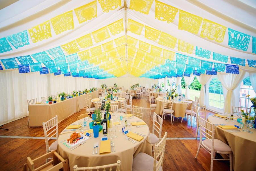 Wedding - PAPEL PICADO Mexican Wedding Personalised in Custom Colours