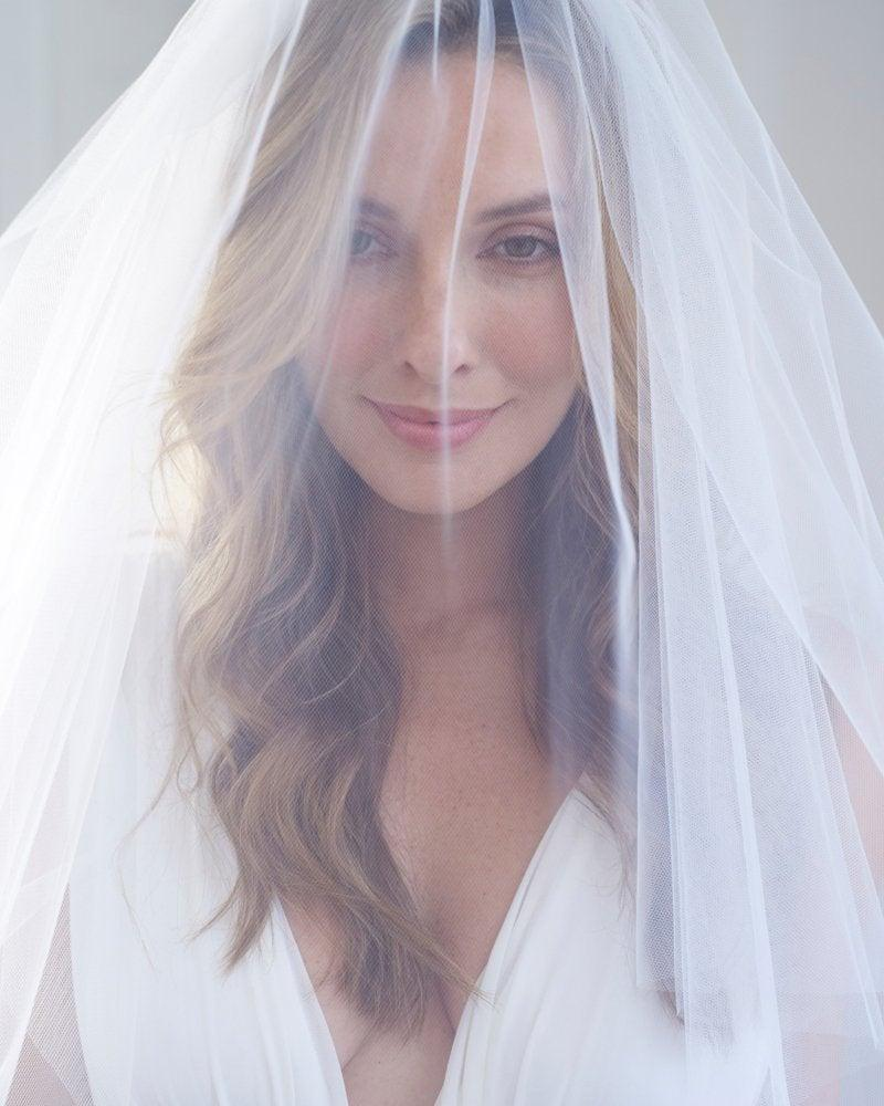Wedding - Cut Edge Wedding Veil, 2 Layer Veil, No Edging Bridal Veil, White Veil, Ivory Veil, Elbow Length Veil, Fingertip Length Veil, Veils ~VB-401