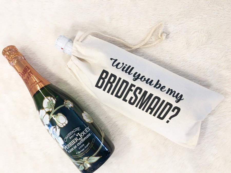 Mariage - Bridesmaid Wine Bag, Will you be my bridesmaid, Champagne Bag, Bridesmaid Gift, Bridal gifts, Wedding, Wine Bag, Gifts For bridesmaid