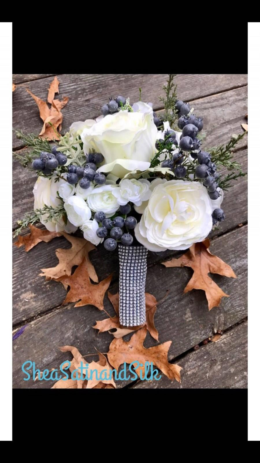 Wedding - Rustic Winter Bridal Toss Bouquet