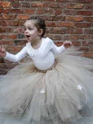 زفاف - Girls Nude Tutu,  Fancy Dress Tutu, Dress Up Tutu, Tulle Skirt, Birthday Tutu, Glitter Tutu, Baby Tutu, Toddler Tutu, Girls