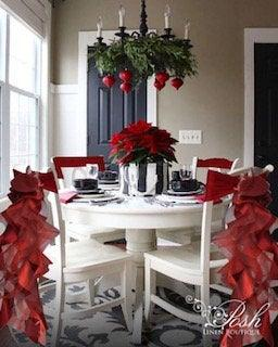 Wedding - Christmas Chair Sashes- Burgundy. Sets of either 2, 4, 5, 6, 8 or 10 Chair Sashes.  Includes Free Shipping!
