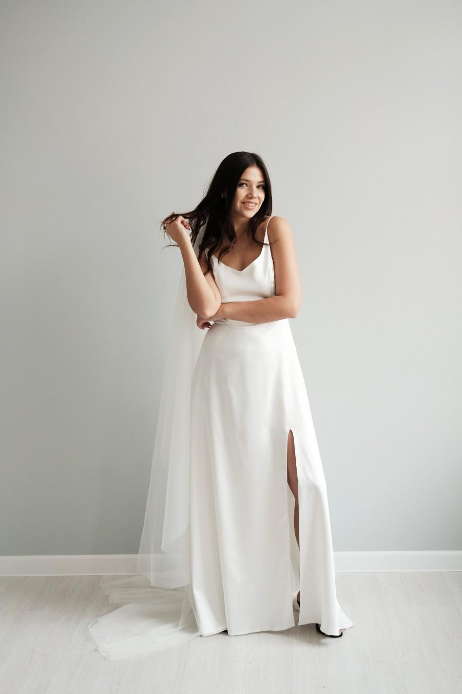Minimalist Wedding Dress Simple Wedding Dress Modern Wedding