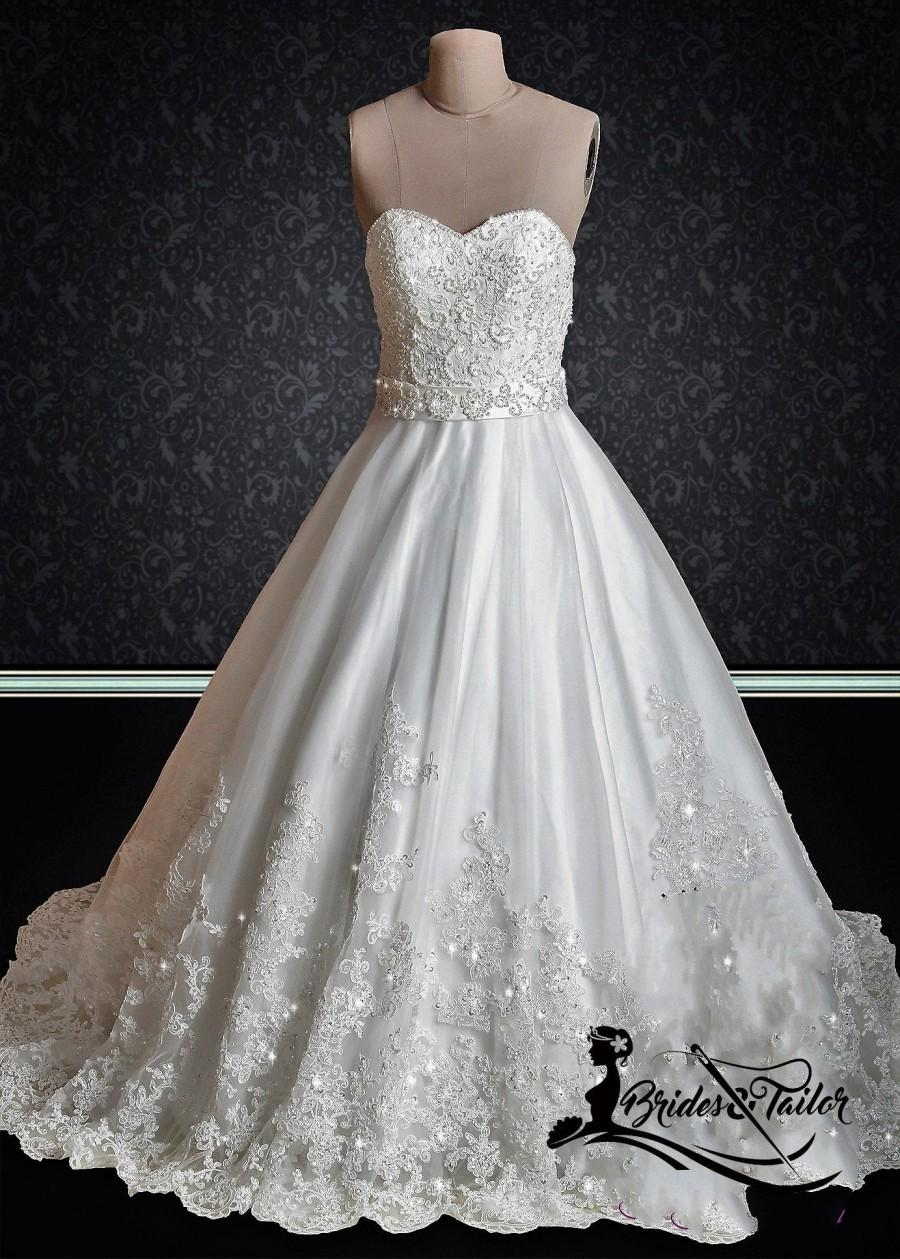 Hochzeit - Custom Made Princess Gown with lace