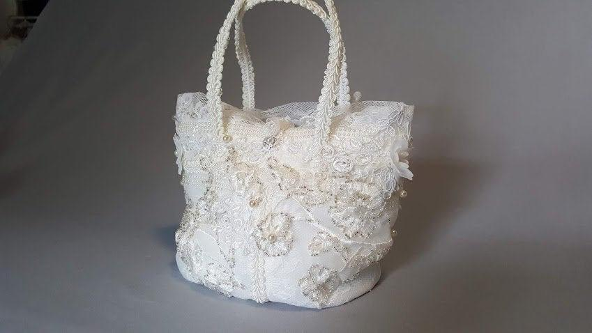 زفاف - Hand-beaded wedding bag