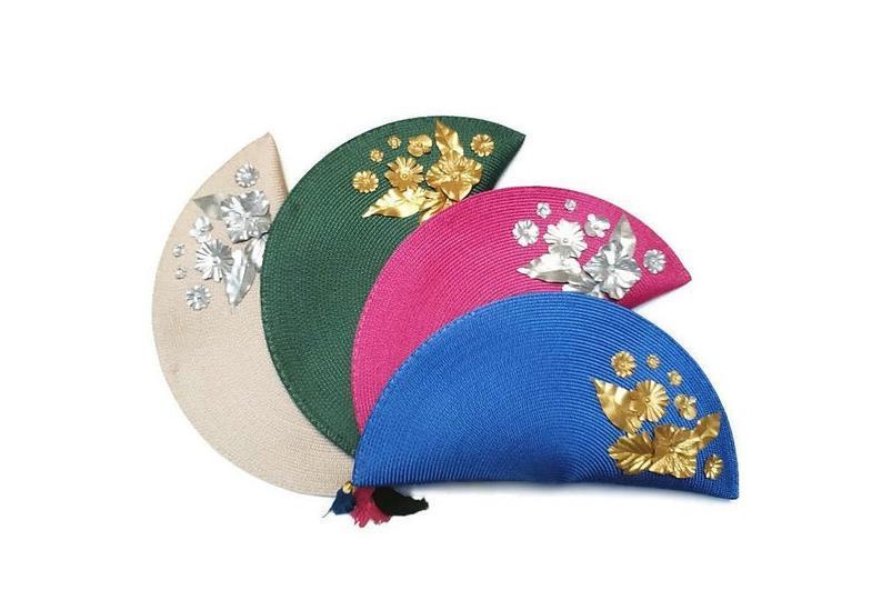 Hochzeit - Embellished evening clutch bags, Raffia handbags, Handmade bags, Statement wedding bags, BS-002