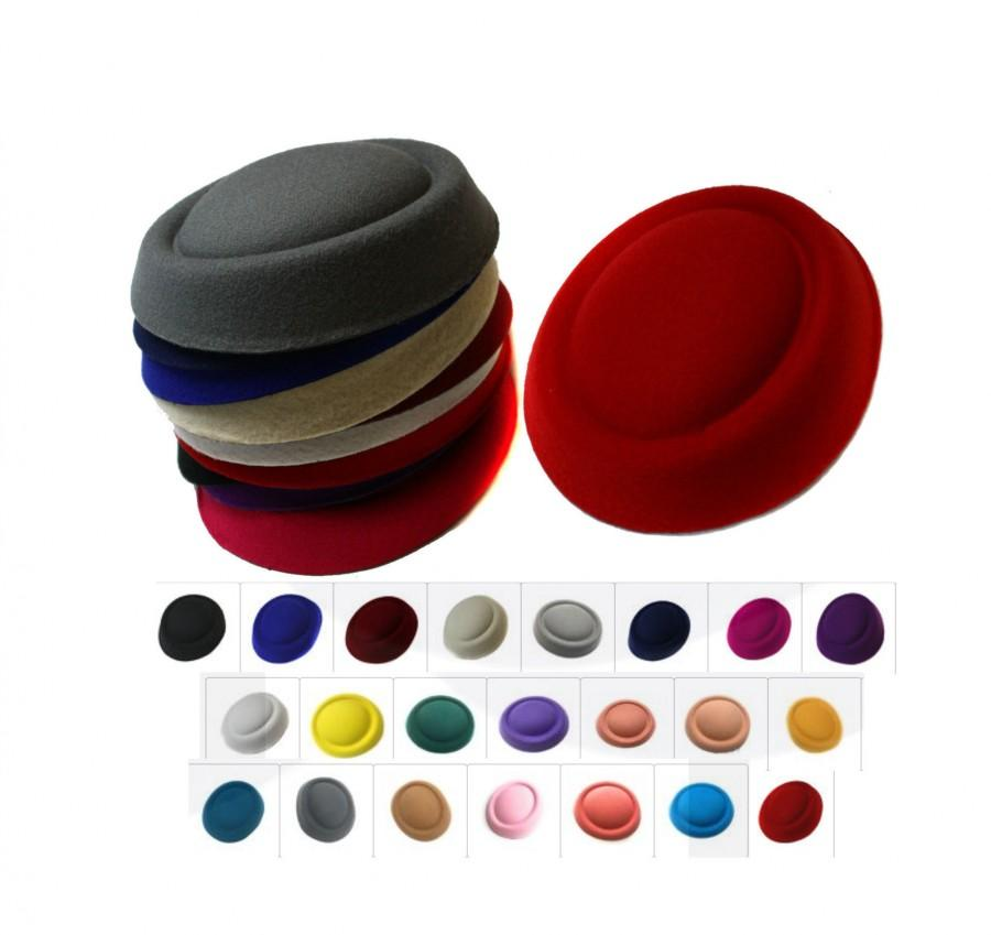 Свадьба - Caprilite Fascinator Base Felt Like Pillbox Hat DIY Material Make Millinery Supplies Wholesale