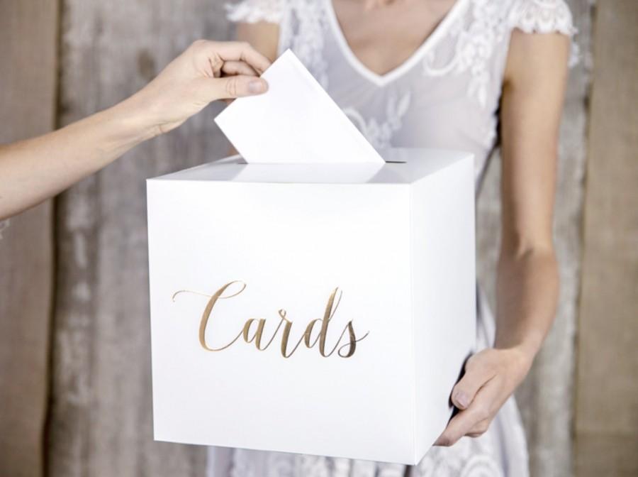 Wedding - Gold Wedding Post Box, Rustic Wedding, Gold Card Holder, Wedding Decoration, Gold Wedding