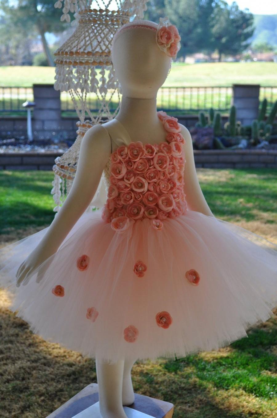 Свадьба - Blush Girls Dress, Pink Flower Girl Dress, Infant Blush Dress, Baby Pink Dress,Toddler Blush Tutu Dress, Special Occasion Blush Dress