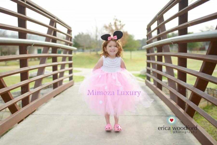 Hochzeit - Minnie mouse birthday dress, pink minnie mouse outfit, 1st birthday tutu dress, minnie mouse themed party, minnie mouse ears, minnie dress