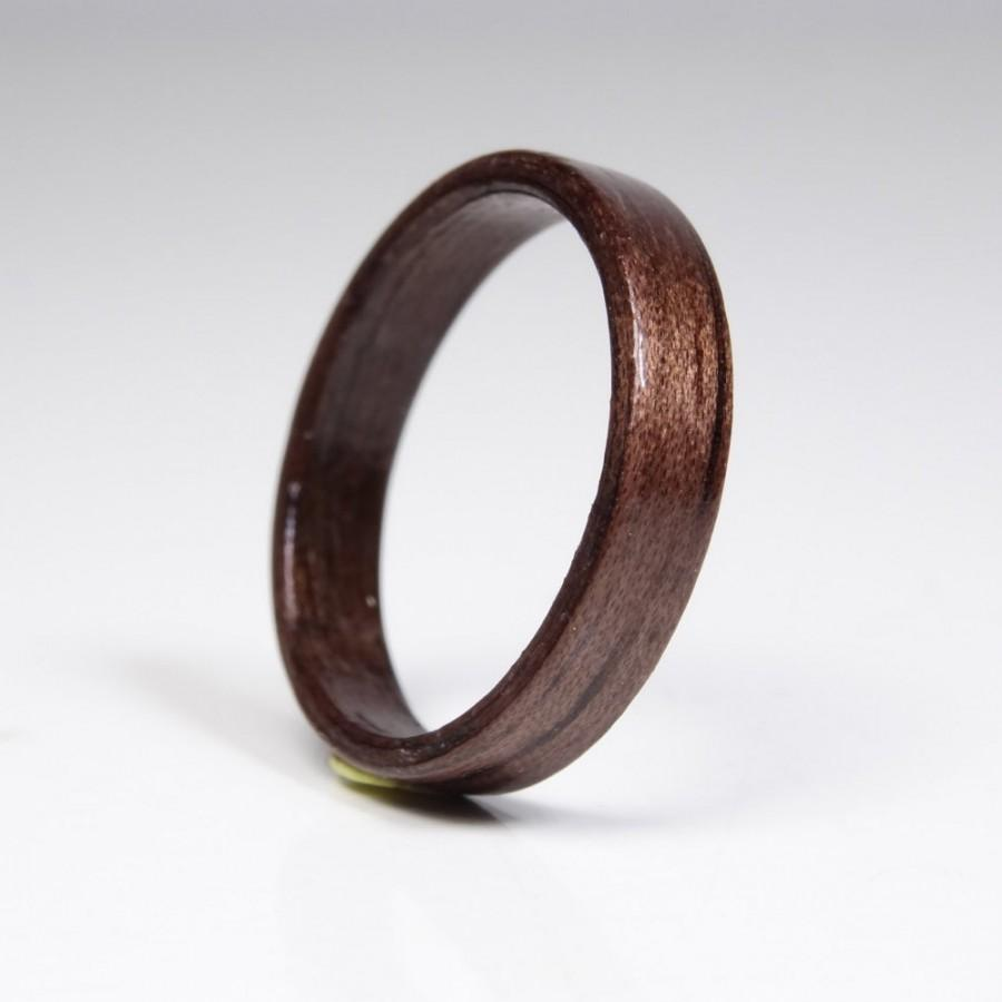 Mariage - Wooden ring from French walnut //  Bentwood Ring // Valentine's Day jewelry // Engagement Ring // wood wedding ring // Unisex ring