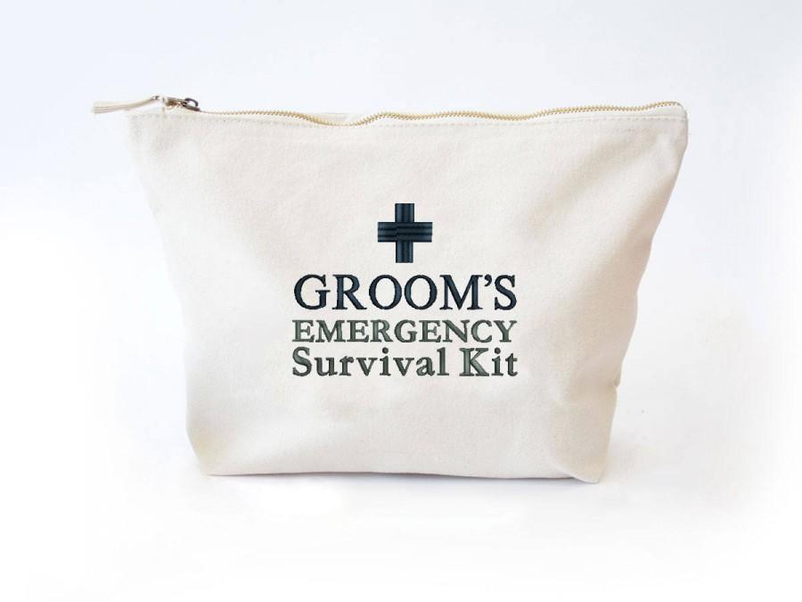Mariage - Groom's Survival Kit Bag, Ready to be filled with Wedding Day Essentials, Groom Wedding Gift, Funny Groom Gift