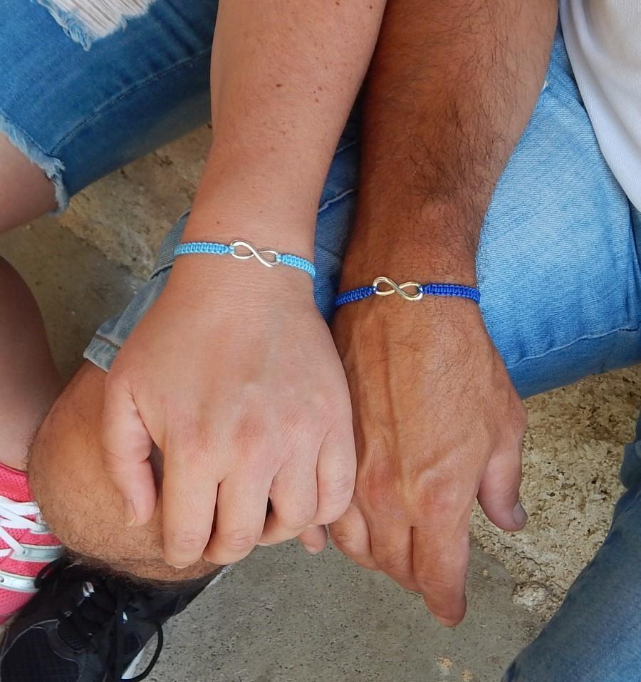 زفاف - Infinity Couples Matching bracelets - Best Friends Infinity Bracelets - Set of 2 bracelets