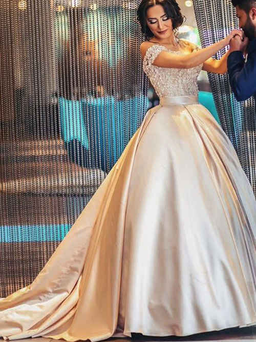 Mariage - Sheath One Shoulder Lace Chiffon Long Evening Dress