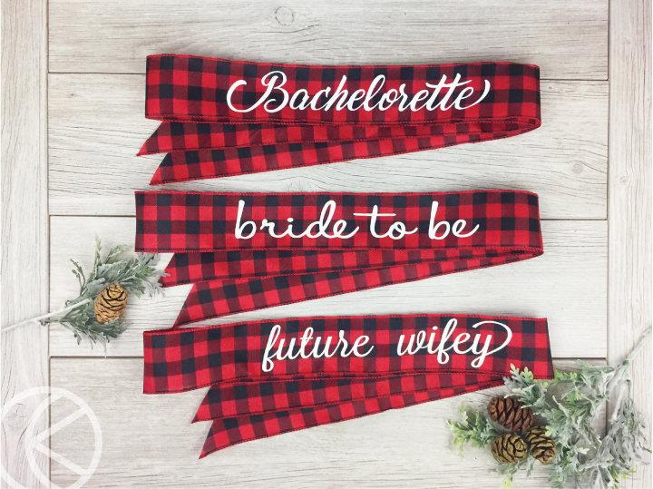 Wedding - Flannel Bridal Sash