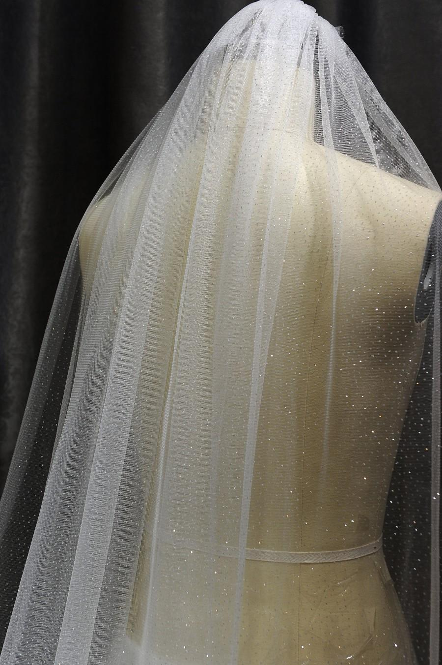Mariage - Ls59/sparkle veil/ glitter veil/ 1 tier veil/ chapel veil/ cathedral veil/custom veil