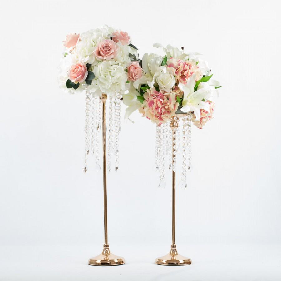 Mariage - Metal Stand/Floral Stand /Pillar/Candelabra Stand/Gold Or Silver/Metal Vase/Flower Stand/Feather Stand/ Kissing Ball