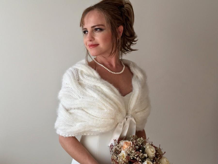 Свадьба - Bridal Bolero,Wedding Shrug,Wedding Cape, Bridal shawl,Wedding Shawl, Bridal Wrap,Winter Wedding Shawl, Capelet ,Bridal Cape,Bridal Wrap