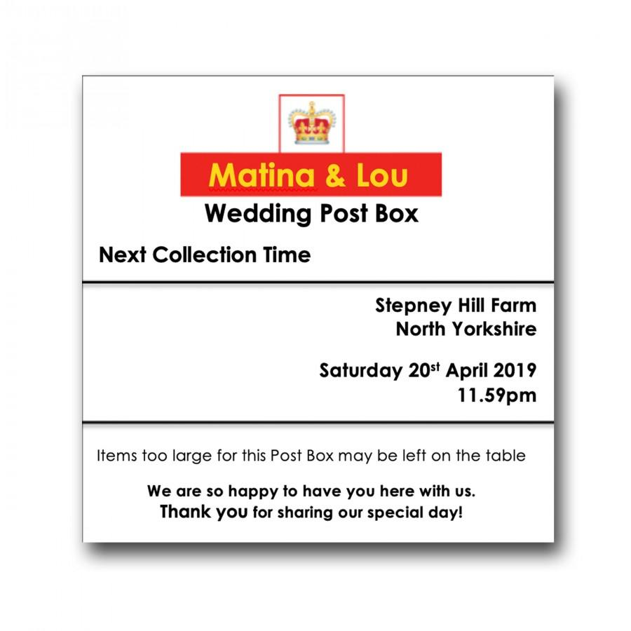 Hochzeit - Handmade Personalised Royal Mail Any Size Colour Post Box Card Holder Gift Box Wedding Birthday Guests 4x4 Sign