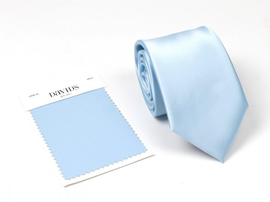 Mariage - Ice Blue Tie, Wedding Ties Ice Blue For Matching Davids Bridal Dress, Wedding Ties Capri, Customize Bow Tie Pocket Square