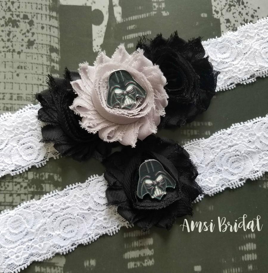 Свадьба - STAR WARS Garters,Darth Vader Garters, Superhero Wedding garter,Super Hero Bridal Garter Set,Black and White garters,Toss Custom Garter Belt