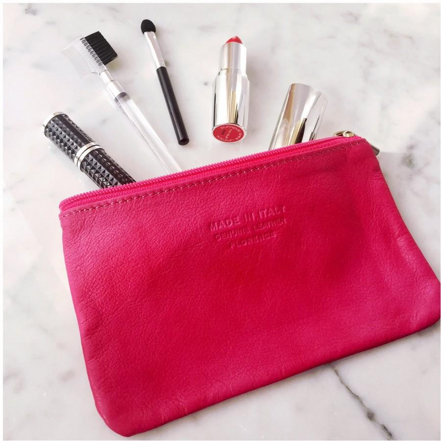 Mariage - Leather Make Up Bag, Makeup Pouch, Purse For Women, Leather Pouch, Cosmetic Bag Leather, Small Clutch Purse Leather, Bridesmaids Pouch, Cute