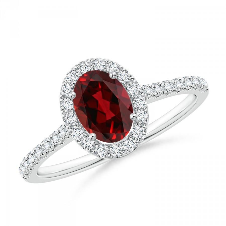 Wedding - Beautiful Garnet Ring for Her, 925 Sterling Silver Ring, January Birthstone Anniversary Ring, Birthday Gift