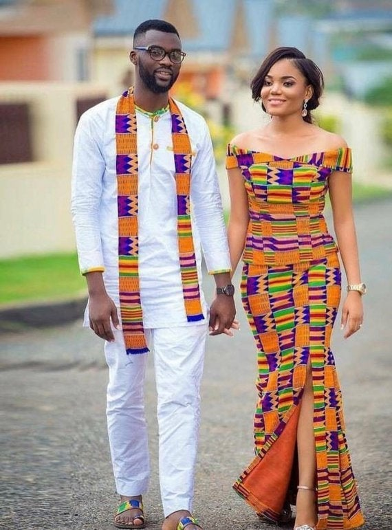 Wedding - African clothing for men,African print dress, African clothing for women, African Wedding couple, African couple dress, African maxi suit