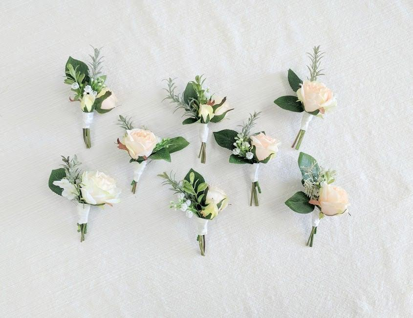 زفاف - Boutonniere, Wedding Flowers, Silk Flowers, Wedding Boutonniere, Silk Flower Boutonniere, Flower Boutonniere, The Faux Bouquets