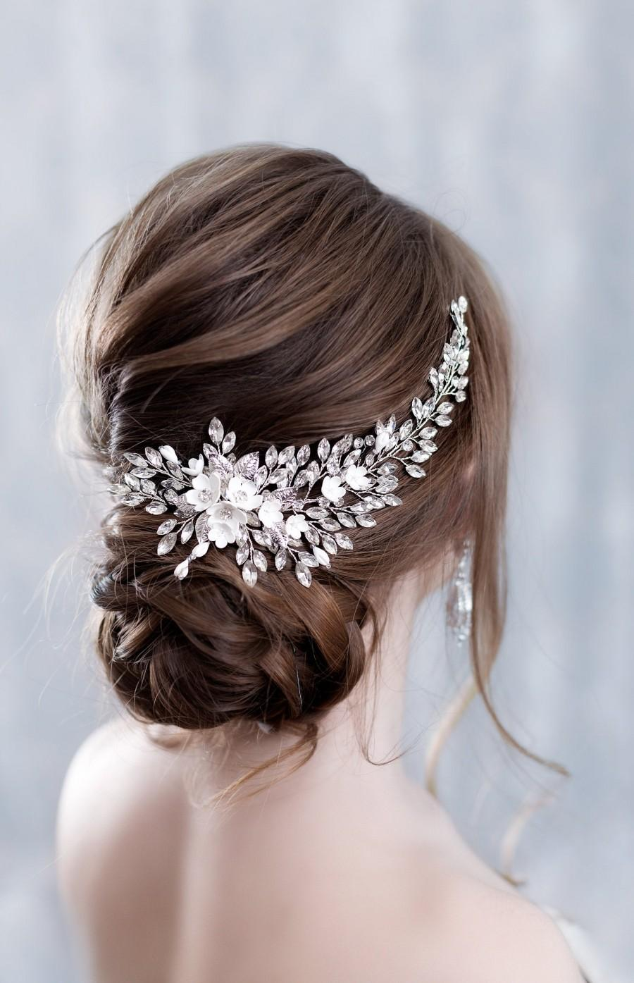 Свадьба - Crystal bridal hair piece Bridal hair accessories Bridal hair vine Bridal hair comb Wedding headpiece Gold hair pieces Wedding hair piece