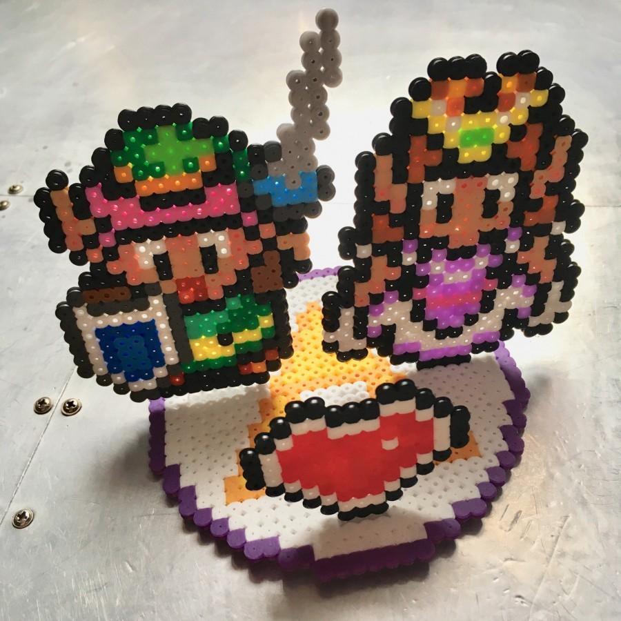 Mariage - Legend of Zelda 8-Bit Pixel Wedding Cake Topper