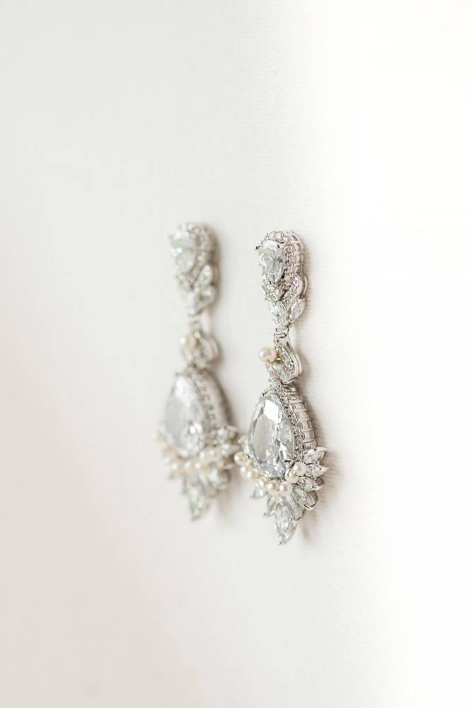 Свадьба - Wedding Earrings, Brides Earrings, Rose Gold Bridal Earrings, Drop Earrings, CZ Wedding Earrings, Chandelier CZ Earrings