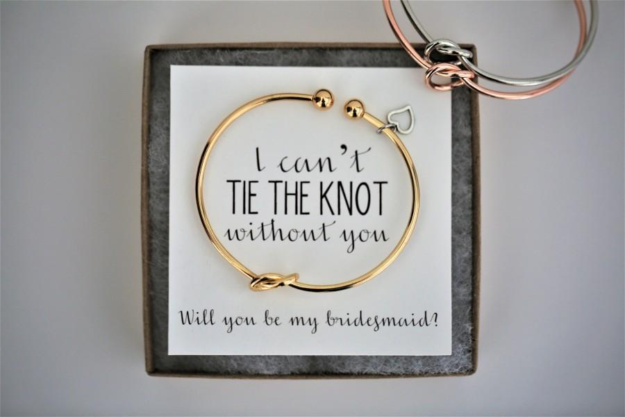 Mariage - I can't tie the knot without you, will you be my bridesmaid