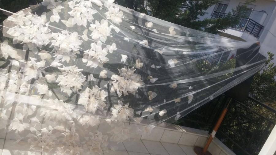 Hochzeit - wedding veils 3D  Flowe  Veil - Maria
