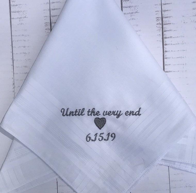 Свадьба - Custom Handkerchief - Personalized Handkerchief - Embroidered Handkerchief