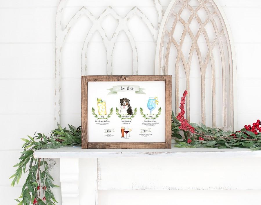 زفاف - Design Your Own! 150 Drink Images & Garnishes + 71 Dogs Included + Cats, Signature Cocktail Sign Template, Signature Drink Sign with Pet