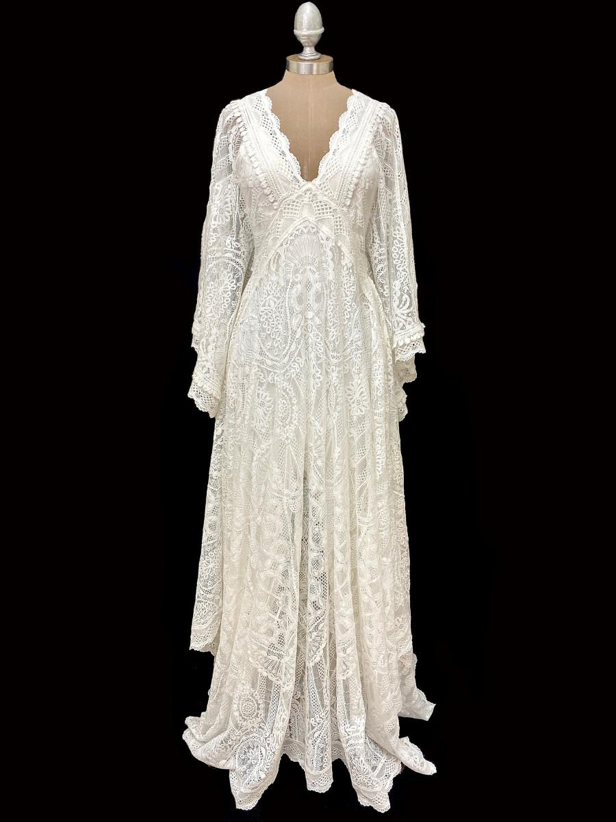 زفاف - boho wedding dress, boho lace wedding dress, kaftan wedding dress, wedding dress, boho wedding,
