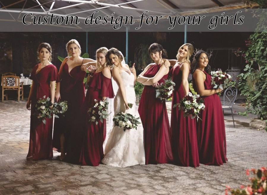 Mariage - Custom bridesmaid dress burgundy - Design by you, made by us