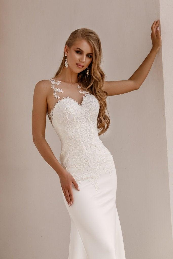 Mariage - Wedding Dress,Ivory Off Wedding Dress, Mermaid Wedding Dress, Lace Wedding Dress, Bohemian Wedding Dress, Rustic Wedding Dress, Wedding