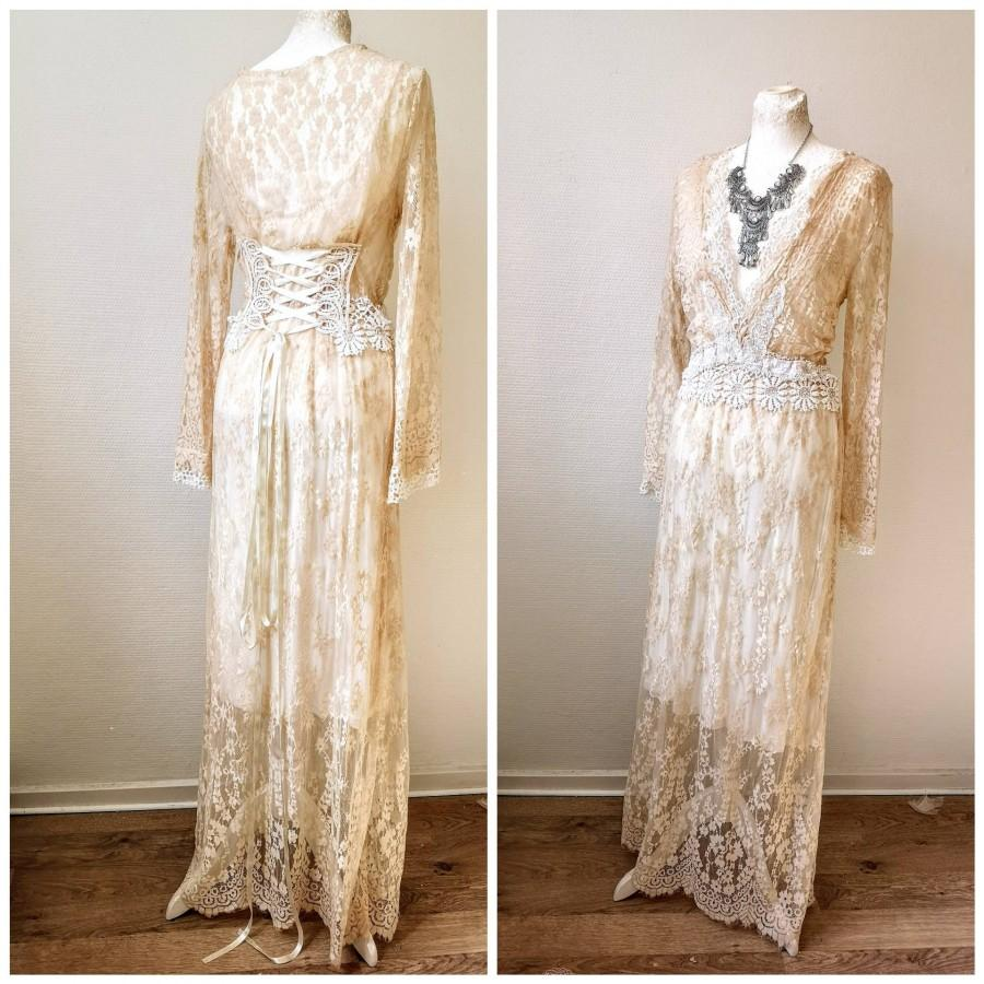 Wedding - Flapper wedding dress,Unique wedding dress , empire inspiration , Victorian wonder wedding , handmade