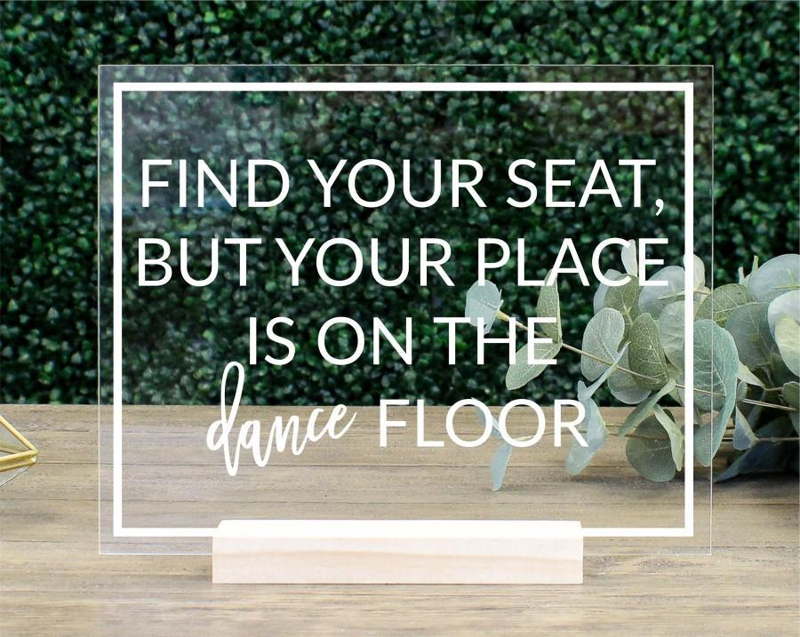 زفاف - Find Your Seat Escort Table Sign