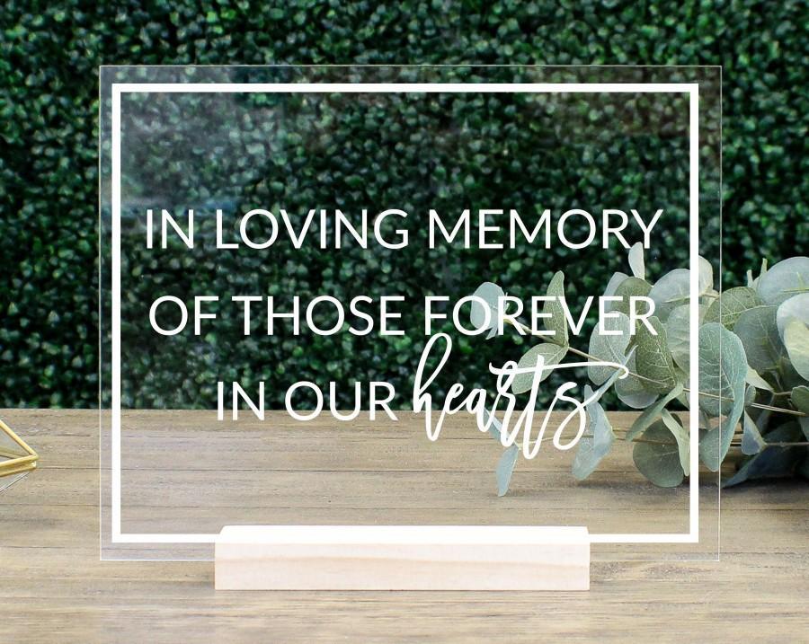 Mariage - In Loving Memory, Memorial Table Sign