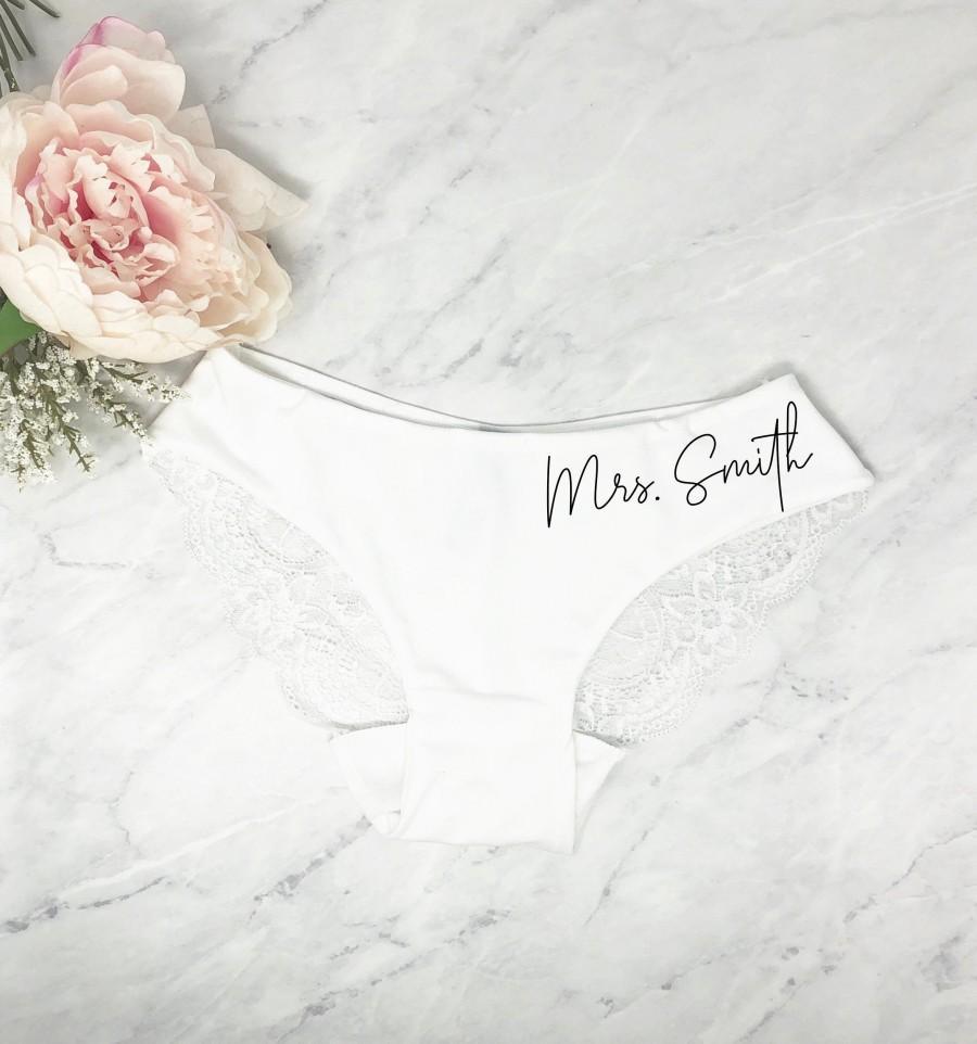 Wedding - lace underwear, womens lace underwear, bride underwear, new mrs underwear, honey moon outfit, bridal shower gift set, gift for bride