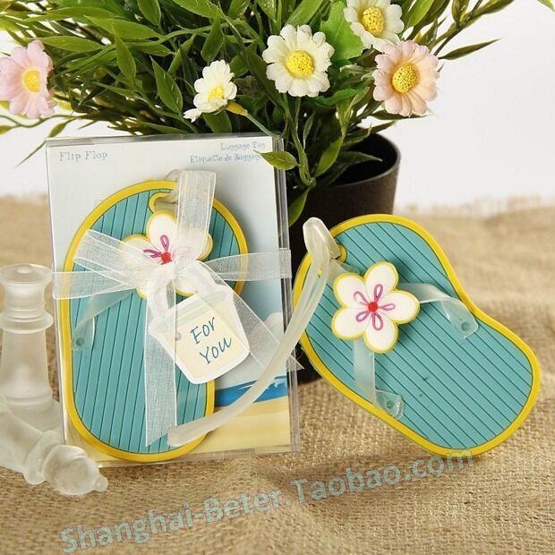 Свадьба - 沙灘小拖鞋行李牌活動派對DIY結婚小禮物青島海邊婚禮伴手禮ZH010