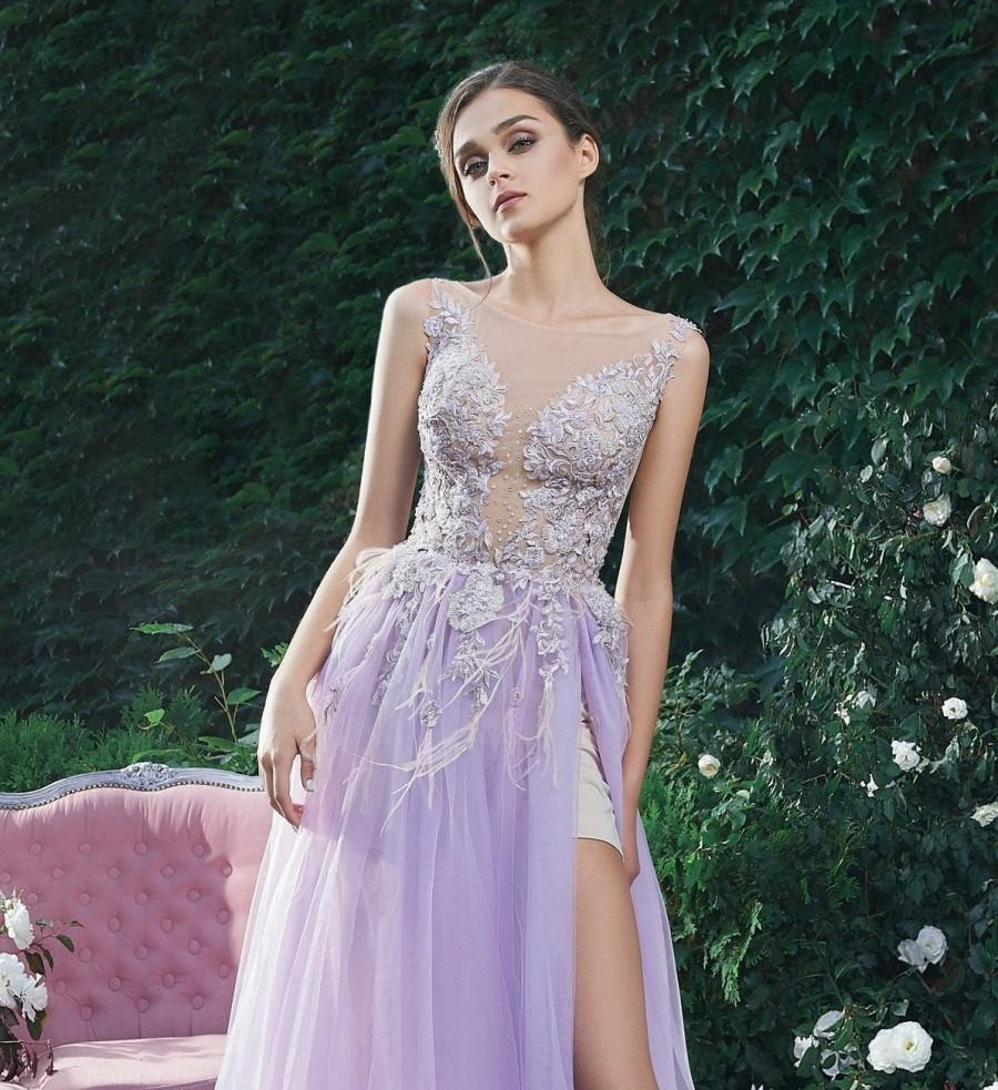 زفاف - Purple Dress Tulle Dress Prom Dress Long Embroidered Dress Alternative Wedding Dress Bohemian Dress Evening Gown Formal Dress Sexy Dress
